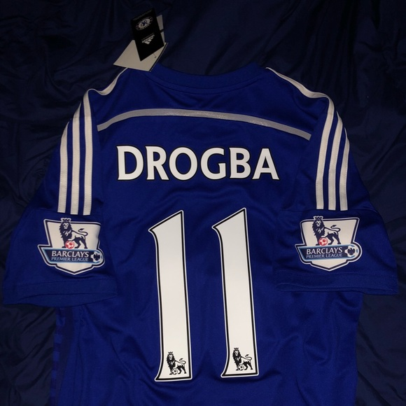 low priced 67f45 0b75c Didier Drogba Chelsea FC Home Replica Jersey NWT